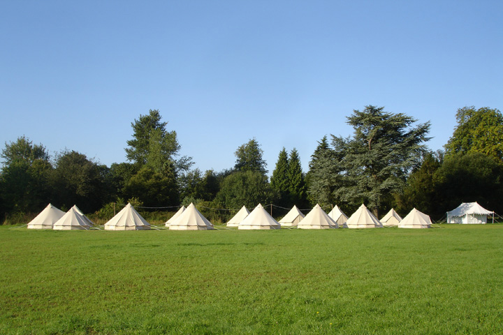 Wiltshire bell tent hire