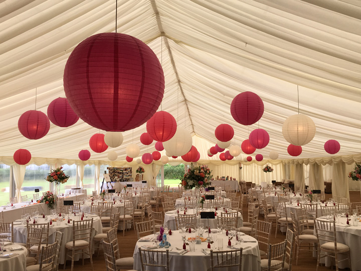 Marquees decorated for weddings