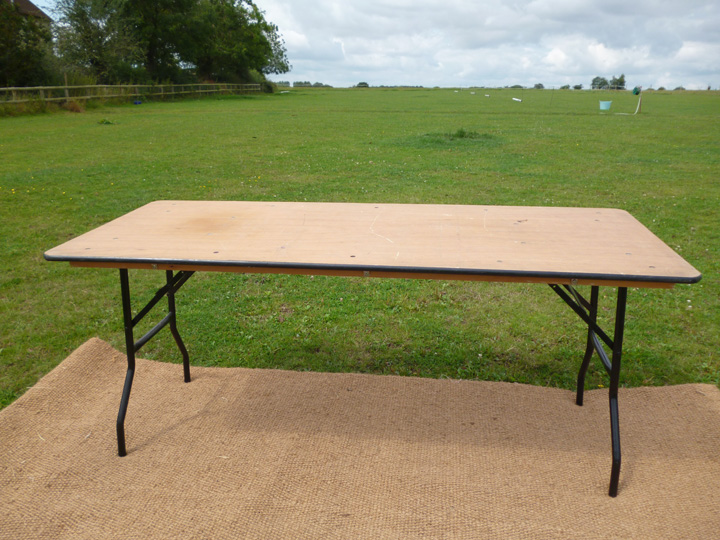 Marquee furniture hire - Trestle table