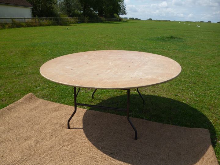 "Marquee furniture hire - 5ft 6"" round tressle table, available in 5ft, 5ft 6"" and 6ft"