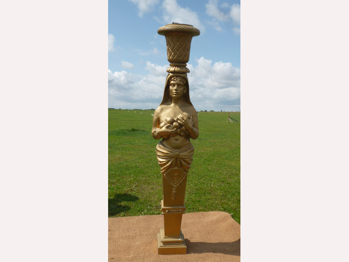 Marquee furniture hire - Gold coloured statue