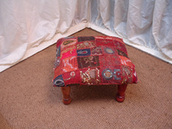 Marquee furniture hire - Fabric Padded Stool