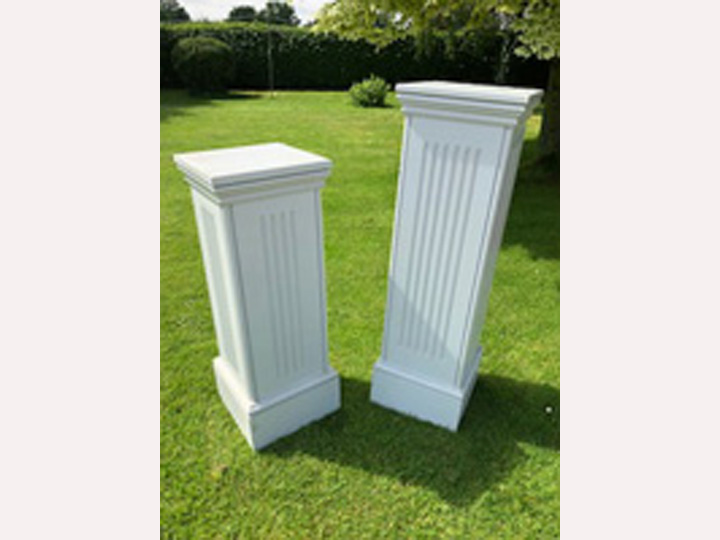 Marquee furniture hire - Wooden flower/ornament pedestals 96cm high or 117cm high