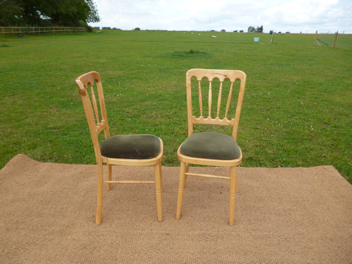 Marquee furniture hire - Beachwood chairs