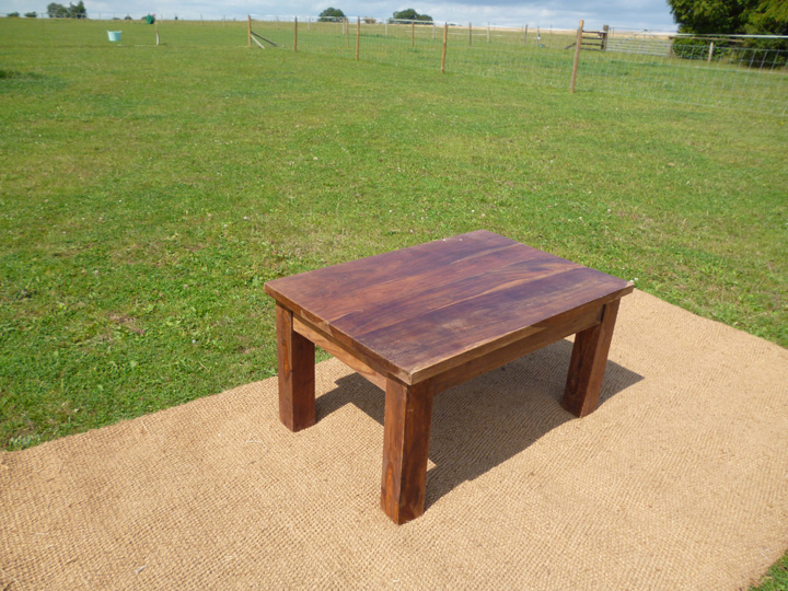 Marquee furniture hire - Oak coffee table