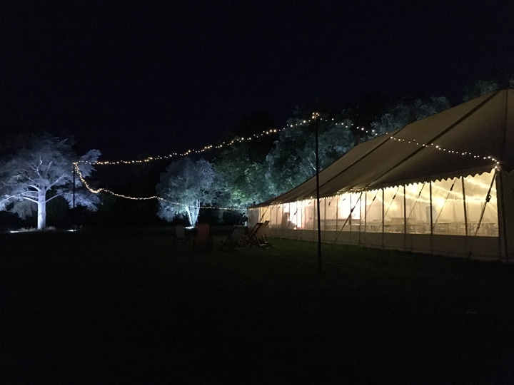 Decorated wedding marquees Wiltshire