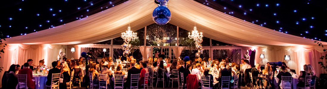 Marquees for balls, dinner parties and celebrations