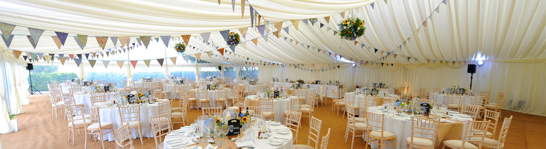 Wedding marquees for hire, marquees decorated for wedding receptions