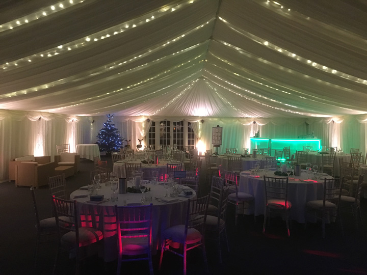 Winter wedding marquee hire Cirencester Gloucestershire